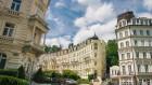 Kuren in Tschechien: Blick auf das Hotel Anglicky Dvur Karlsbad Karlovy Vary