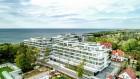 Kuren in Polen: Blick auf das Aparthotel Dune Beach Resort Großmöllen Mielno Polen