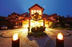 Kuren in Polen: Blick auf das Hotel Kormoran Rowy Rowe Polen