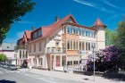 Kuren in Polen: Blick auf das Hotel Kwisa 1 in Bad Flinsberg Swieradów Zdrój Isergebirge