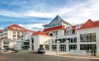 Kuren nach Polen: Blick auf das Hotel Grand Lubicz in Ustka Stolpmünde
