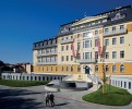 Kuren in Tschechien: Blick auf das Harvey SPA und Kur Hotel in Franzensbad Frantiskovy Lazne