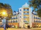 Kuren in Polen: Blick auf das Kurhotel Villa Rezydent in Swinemünde (Swinoujscie)