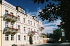 Kuren in Tschechien: Blick auf das Kurhaus Sevilla in Franzensbad Frantiskovy Lazne