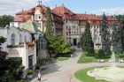 Kuren in der Slowakei: Außenansicht des Kurhotel Thermia Palace in Piestany Pistyan
