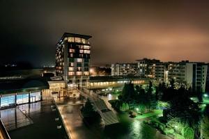 Kuren in Polen: Abendimpressionen vom Kurhotel Arka Medical Spa in Kolberg Kolobrzeg