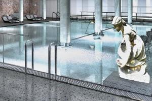 Kuren in Tschechien: Schwimmbad im Kurhaus Beethoven in Bad Teplitz Lázne Teplice