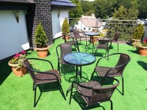Kuren in Polen: Dachterrasse vom Kurhaus Bursztyn in Kolberg Kolobrzeg