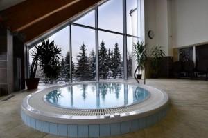 Kuren in Polen: Whirlpool im Spa & Kur Hotel Czeszka Bad Flinsberg Swieradów Zdrój Isergebirge
