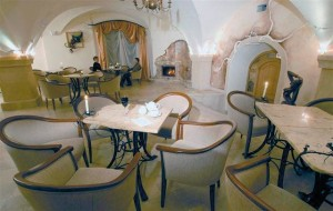 Kuren Polen: Cafe im Hotel Caspar in Bad Warmbrunn Cieplice Zdrój