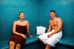 Kuren in Polen: Dampfsauna im Hotel Delfin Spa und Wellness in Neuwasser Dabki Ostsee
