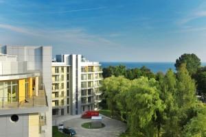 Kuren in Polen: Blick vom Diune Hotel & Resort Kolberg Kolobrzeg Polen