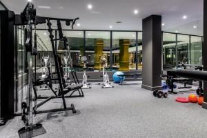 Kuren in Polen: Fitnessraum im Aparthotel Dune Beach Resort Großmöllen Mielno Polen