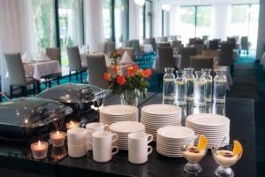 Kuren in Polen: Restaurantansicht im Hotel Ewerdin Swinemünde Swinoujscie