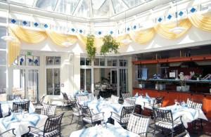 Kuren in Deutschland: Wintergarten im Hotel Hanseatic in Göhren