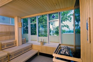 Kuren in Deutschland: Sauna im Hotel Hanseatic in Göhren