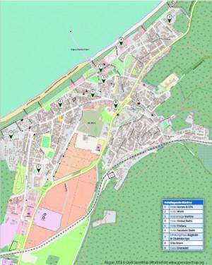 Kuren in Polen: Lageplan des Hotel Aurora Spa und Wellness in Misdroy (Miedzyzdroje)