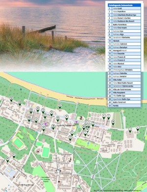 Kuren in Polen: Lageplan des Atol Resort in Swinemünde Swinoujscie Ostsee