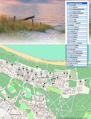 Kuren in Polen: Lageplan des Kurhotel Alga in Swinemünde Swinoujscie