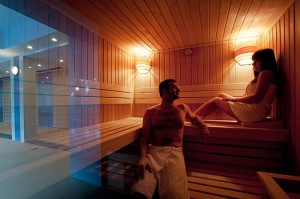 Kuren in Polen: Sauna im Hotel Kaisers Garten in Swinemünde