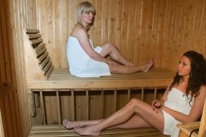Kuren in Polen: Sauna des Kurhotel Kaja in Bad Flinsberg Swieradów Zdrój Isergebirge