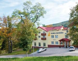 Kuren in Polen: Außenansicht von der Klinika Mlodosci Medical SPA Bad Flinsberg Isergebirge