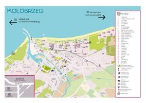 Kuren in Polen: Hotellageplan Kolberg Kolobrzeg Ostsee