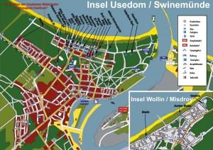 Kuren in Polen: Lageplan Swinemünde Swinoujscie