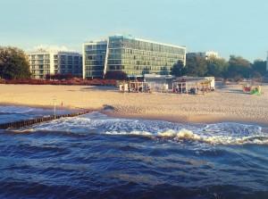 Kuren in Polen: Außenansicht des Hotel Marine & Ultra Marine in Kolberg Kolobrzeg