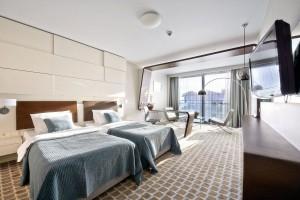Kuren in Polen: Wohnsicht im Hotel Marine & Ultra Marine in Kolberg Kolobrzeg