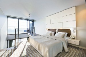 Kuren in Polen: Doppelzimmer Lux mit Terrasse im Hotel Marine & Ultra Marine in Kolberg Kolobrzeg