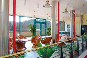 Kuren in Tschechien: Empfangshalle im Hotel Novy Dum in Bad Liebwerda
