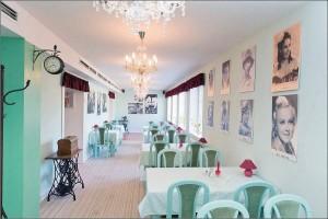Kuren in Tschechien: Cafe im Hotel Novy Dum in Bad Liebwerda