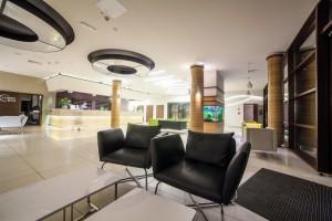 Kuren in Polen: Lobby des Kurhaus Olymp 3 in Kolberg Kolobrzeg Ostsee