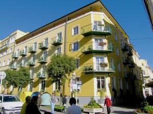 Kuren in Tschechien: Andere Haushälfte vom Kurhaus Palace 1 in Franzensbad (Frantiskovy Lazne)