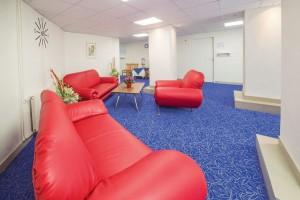 Kuren in Tschechien: Aufenthaltbereich im Kurhaus Savoy in Franzensbad Frantiskovy Lazne