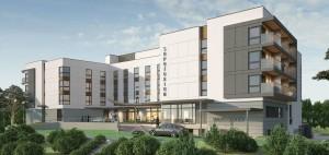 Kuren in Polen: Frontansicht des Kurhotel Sopotorium Medical Resort Zoppot Sopot Polen