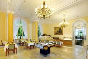 Kuren in Tschechien: Speisesaal im Kurhotel Svoboda in Marienbad Mariánské Lázně