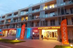 Kuren in Polen: Front des Apartresort Verano Kolberg Kolobrzeg Ostsee