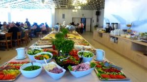 Kuren in Polen: Speisesaal im Apartresort Verano Kolberg Kolobrzeg Ostsee