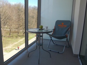 Kuren in Polen: Balkon im Apartresort Verano Kolberg Kolobrzeg Ostsee