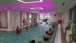 Kuren in Polen: Wassergymnastik im Apartresort Verano Kolberg Kolobrzeg Ostsee
