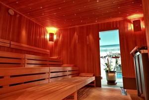 Kuren in Tschechien: Sauna des Hotel Agricola Wellness und Sport Resort in Marienbad Mariánské Lázně