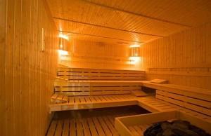 Kuren in Polen: Sauna des Kurhotel Alga in Swinemünde Swinoujscie