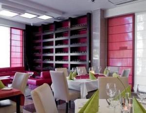 Kuren in Polen: Speiseraum im Hotel Avangard und Panorama in Swinemünde