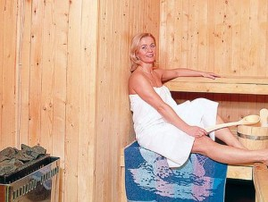 Kuren in Tschechien: Sauna des Kurhotel Berlin in Marienbad Mariánske Lázne