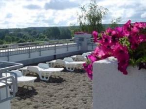 Kuren in Polen: Dachterrasse der Residenz Bielik in Misdroy