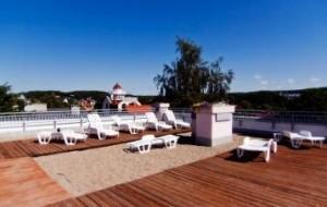 Kuren in Polen: weitere Ansicht der Dachterrasse der Residenz Bielik in Misdroy