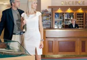 Kuren in Tschechien: Lobby im Ensana Health Spa Hotel Centrálni Lázne in Marienbad