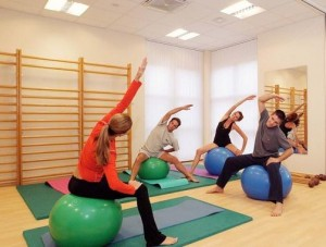 Kuren in Tschechien: Gymnastik im Ensana Health Spa Hotel Centrálni Lázne in Marienbad